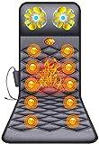 XinMuZheng Cojín de masaje con motor de vibración, almohadilla de calefacción, masajeador de espalda para silla, almohadilla de masaje para aliviar el dolor de espalda