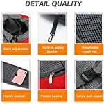 Achort Pet Carrier Hand Free Sling Puppy Carry Bag Small Dog Cat Traverl Carrier with Breathable Mesh Pouch for Outdoor Travel Walking Subway 12LB (Red) 9