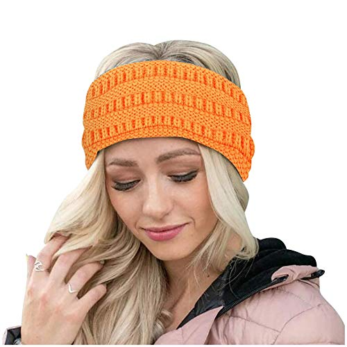 1 diadema de punto para mujer, para invierno, cálida, protección para las orejas, elástica, para hacer deporte