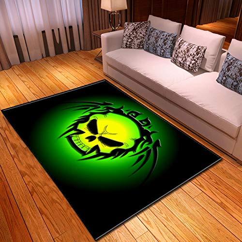 LGXINGLIyidian Casa Alfombra Serie De Calaveras De Muerte De Terror Creativo Alfombra Suave Antideslizante De Decoración del Hogar De Impresión 3D T-1076K 100X150Cm
