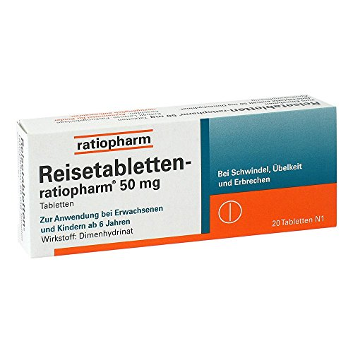 Reisetabletten-ratiopharm, 20 St. Tabletten