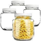 Wide Mouth Mason Jars 64 OZ [4 Pack] Half...