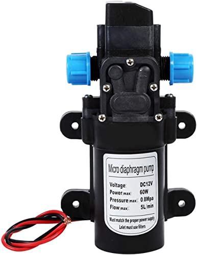 Pompe à Eau Haute Pression, Keenso DC 12V 5 L/Min Pompe à Eau Diaphragme Pompe de Pulvérisateur à Amorçage Automatiqu...