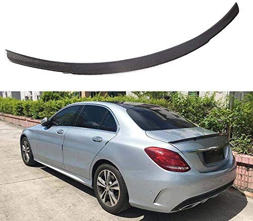 HOUGE Black Car Rear Spoiler, Used For Mercedes-Benz W205 C180 C200 C250 C260 C63 Amg 2014-2019 Trunk Lid Wing, Universal Carbon Fiber Modified Roof Extension Wing
