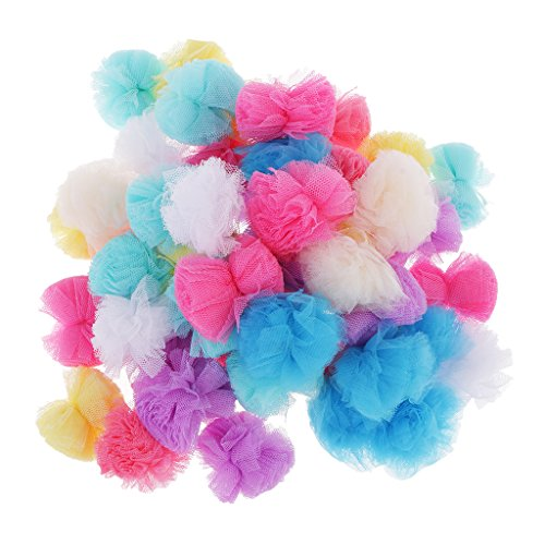 Non-brand 50pcs Assorted Colors Soft Yarn Pompoms for Craft Making And Hobby Supplies