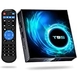 Android 10.0 TV Boxes, T95 Android Box Allwinner H616 Quad-Core with 4GB DDR 64GB ROM Streaming Media Player Support Dual WiFi 2.4GHz/5GHz, 6K 4K Output 100M LAN Enternet Bluetooth5.0 Smart TV Box