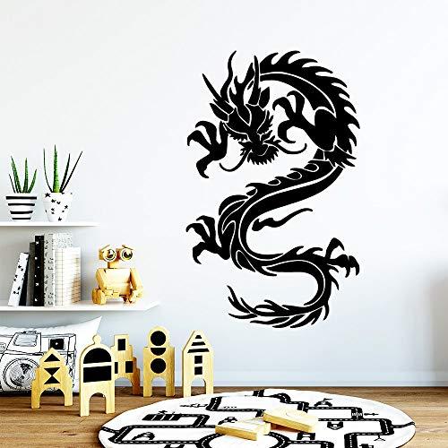 yaonuli muursticker, draak, afneembaar, voor woonkamer, slaapkamer, afneembare achtergrond