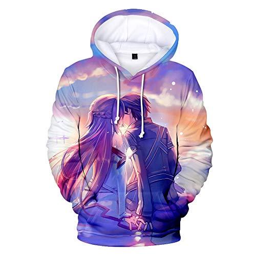 CZL Japanische Anime Schwert Kunst Online Cosplay Männer Frauen Jugend 3D Gedruckt Hoodie Herbst Und Winter Langarm Pullover Sport Casual Loose Jacket Sweater