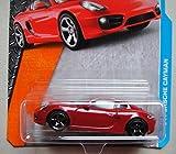 MATCHBOX METAL PART PIEZAS RED '14 PORSCHE CAYMAN 23/125