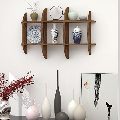 Yxsd Sub-grid massief houten plank, woonkamer muur opknoping decoratieve plank Display Stand