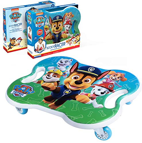 Lowest Price! Paw Patrol Toys Scoot Racer - Scooter Board w/Casters for Boys and Girls - PE Scooters