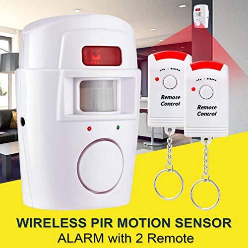 Peanutaso Sensor de Movimiento inalámbrico Detector de Seguridad de Alarma Sistema de Alerta Interior y Exterior