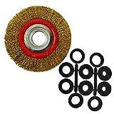 Rueda de alambre de acero de 150 mm con adaptadores de cepillo de 6' y 8'...