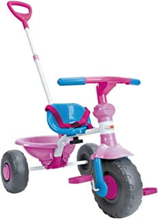 ChromeWheels Kids' Tricycle with Canopy, Pushing Handle and Grow-with Head for 1-3 Years Old Toddler