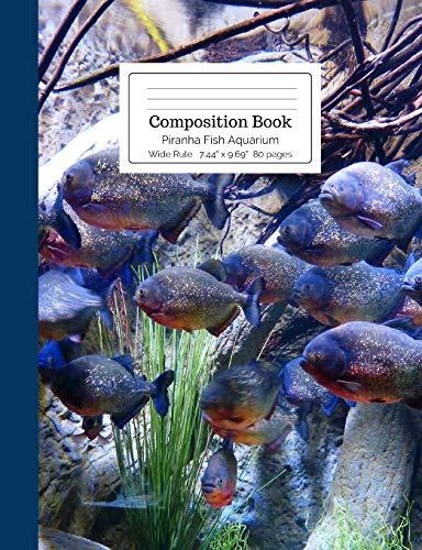 Composition Book Piranha Fish Aquarium Wide Rule