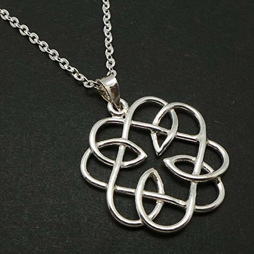 Handmade Silver Celtic Father Daughter Knot Pendant Necklace