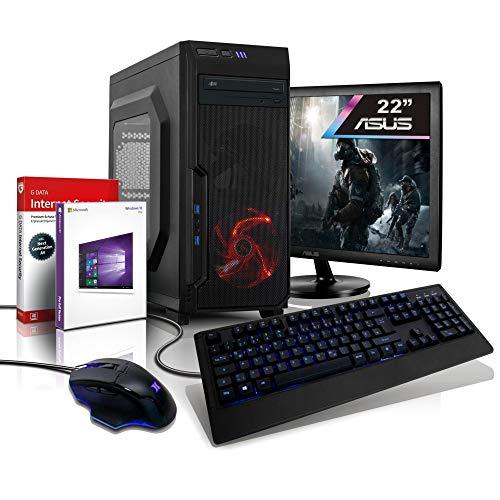 Komplett PC Entry Gaming/Multimedia Vega3 Computer mit 3 Jahren Garantie! | AMD Athlon 3000G, 4-Threads, 3.5 GHz | 16GB DDR4 | 256GB SSD+1TB | Radeon Vega 3 4GB | 22' ASUS | WLAN | DVD | Win10#6668