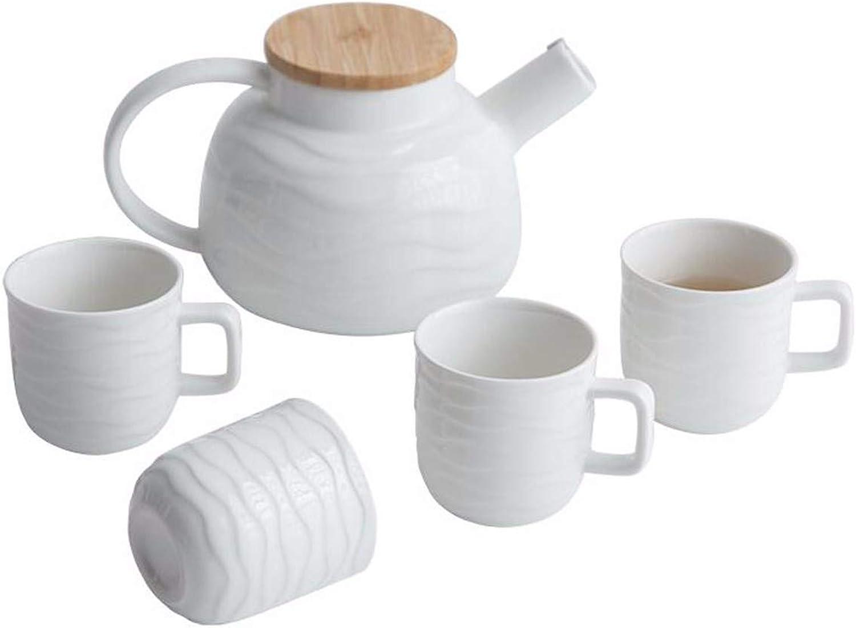 Les teaware Tasse Tasse de thé ondulé café la Tasse de café Blanc