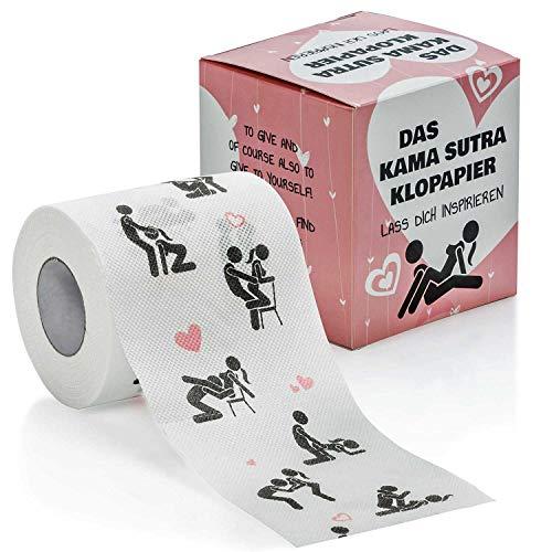 Kamasutra Toilettenpapier WC Fun Klopapier mit erotischen Positionen & Stellungen für Verliebte