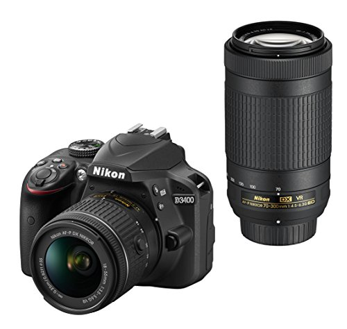 Nikon デジタル一眼レフカメラ D3400 ダブルズームキット ブラック D3400WZBK
