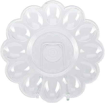 Preisvergleich für TOP STAR - Eierteller für 12 Eier 24 cm rund transparent