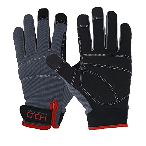 Handlandy Breathable Men's Work Gloves to Use in Warehouse