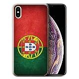 Stuff4 Coque Gel TPU de Coque pour Apple iPhone XS Max/Portugal/Portugais Design/Drapeau Collection