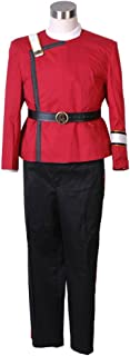 Cosdaddy Men's The Wrath of Khan Cosplay Saavik Costume Red Uniform