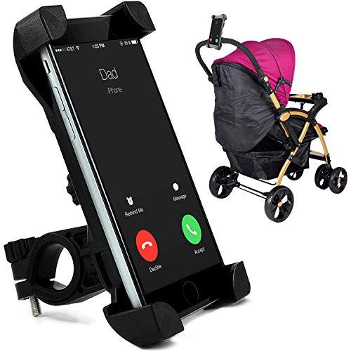 Handyhalterung für Kinderwagen und Buggy, Universal für alle iPhone Samsung Android Smartphones 3.5-6.5 Zoll