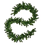Christopher Knight Home 307405 9-Foot Noble Fir Pre-lit Clear LED Artificial Christmas Garland