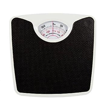 Bodico Classic Retro Analog Vinyl Top Body Weight Scale 10.5  x 10.5  x 2  Black