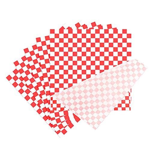 Ledeak 100 Pezzi Greaseproof Carta Cerata Papers, Cibo Imballaggi Alimentari Carta da Imballaggio Alimentare Cottura Papers Monouso Fogli Carta Oleata per Hamburger Pasticceria Sandwich Formaggio
