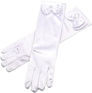 Girl Solid Color Long Elbow Length Formal Pageant Glove
