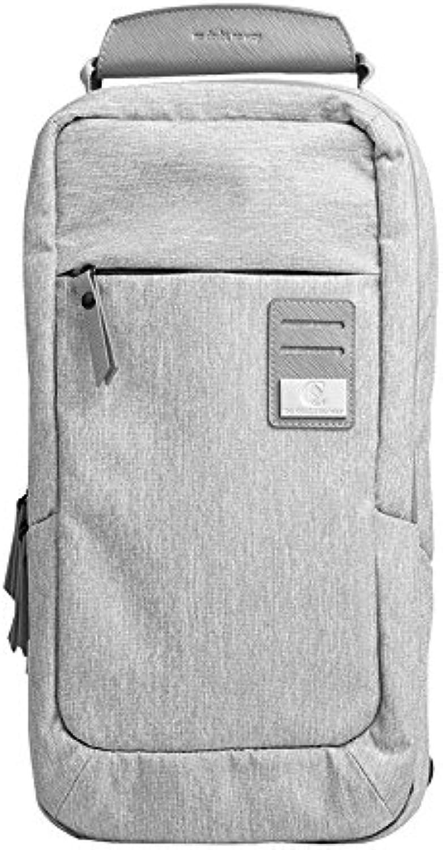 Bellecita Tasche des Eleganten Mannes Herren Brusttasche Multifunktions Outdoor Sports Umhängetasche Mode Schulter Messenger Rucksack (grau) B07MHCH46D