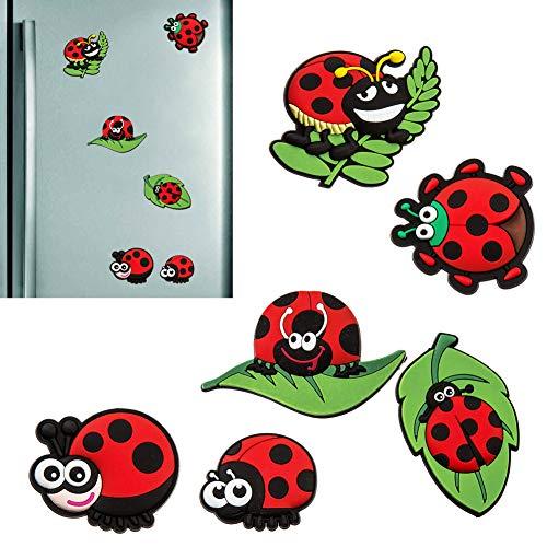 Marienkäfer Fliegenpilz Sticker 3 Blatt á 8 Sticker = 24 Sticker