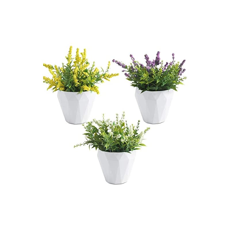 silk flower arrangements new ruicheng artificial flowers silk bouquet gypsophila fake flower blossom realistic flowers with small ceramic vase 3 pack set bridal wedding arrangements for home hotel office table decoration