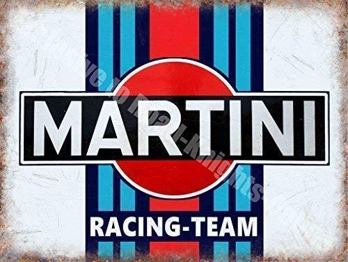Martini Rennen Team Motorsport Motor Klassisch Metall/Stahl Wandschild - 20 x 30 cm