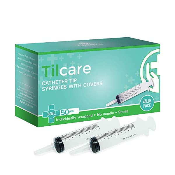 buy  60ml Catheter Tip Syringe with Covers 50 Pack by ... Diabetes Care