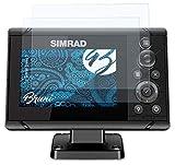 Bruni Schutzfolie kompatibel mit Simrad Cruise 5 Folie, glasklare Displayschutzfolie (2X)