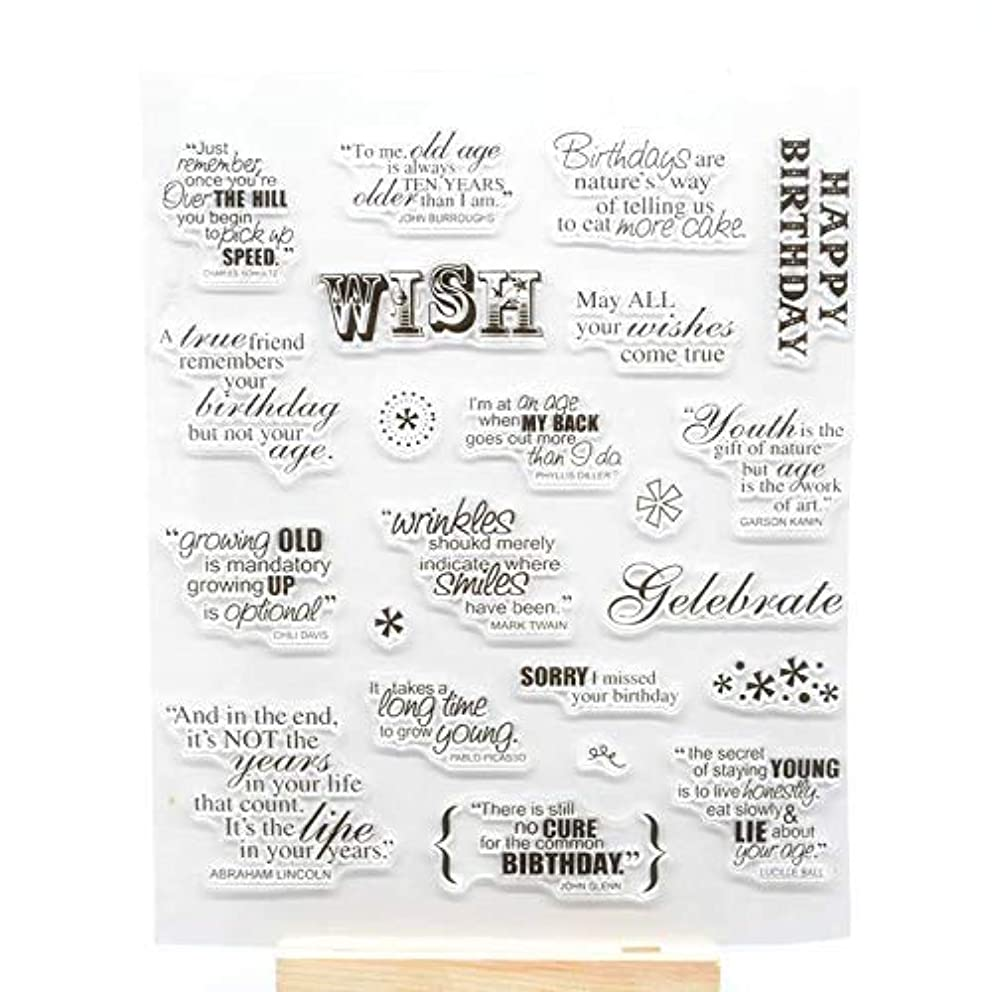 Welcome to Joyful Home 1pc Wish Sentiment Rubber Clear Stamp for Card Making Decoration and Scrapbooking