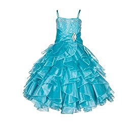 Tiffany Rhinestone Organza Layer Flower Girl Dresses