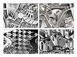 Capricci Italiani Juego de 4 manteles individuales plastificados Escher