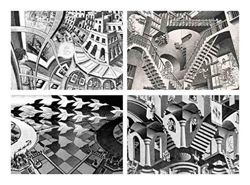 Capricci Italiani - Juego de 4 manteles Individuales plastificados Escher