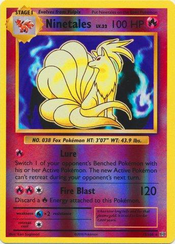 Pokemon - Ninetales (15/108) - XY Evolutions - Reverse Holo
