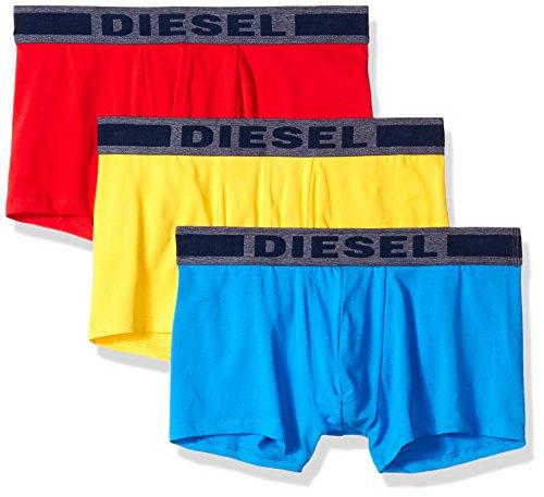 Diesel Herren UMBX-SHAWNTHREEPACK Touch of Denim Boxer 3pack Badehose, Rot/Blau/Gelb, Large