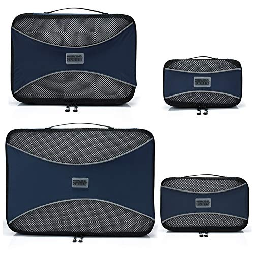 PRO Packing Cubes   Set Convenienza 4 Pezzi Packing Cube da viaggio   Risparmio dello spazio in valigia del 30%   Organizer ultra leggeri per bagagli   Ottimi per borsoni, bagagli a mano e zaini