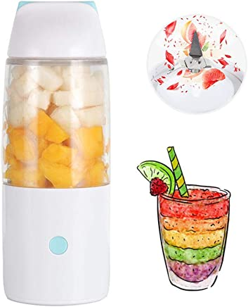 Portable Juicer Blender, Hamkaw 400ml Detachable Fruit Mixer, USB High Speed Single Serve Juicer Cup for Shakes and Smoothies, BPA Free