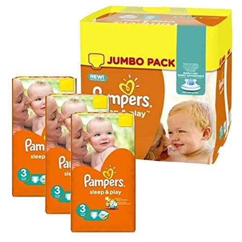 Couches Pampers - Taille 3 sleep & play - 328 couches bébé