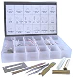 Rekey Kit SC Compatible Keyway ReKey Rekeying Set Locksmith Tool Box Bottom & Master Pins with Each 200 Piece and 7 Tools