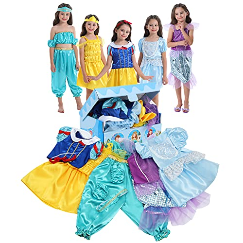 Girls Dress up Trunk VGOFUN Princess Costume Dress Pretend Play Set for Girls Toddlers (Princess dress up trunk-2)